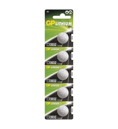 Výhodné balení lithiové knoflíkové baterie GP CR2032 B1532