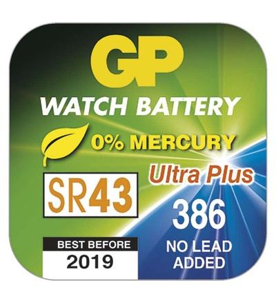 Knoflíková baterie do hodinek GP 386F (SR43, SR1142) B3386F