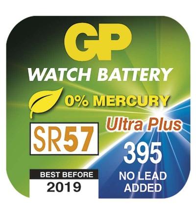 Knoflíková baterie do hodinek GP 395F (SR57, SR927) B3395F