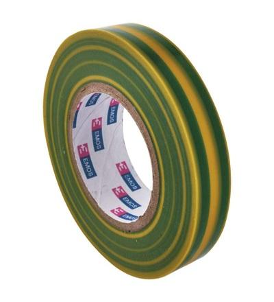 Emos Izolační páska PVC 15mm / 10m zelenožlutá F61515