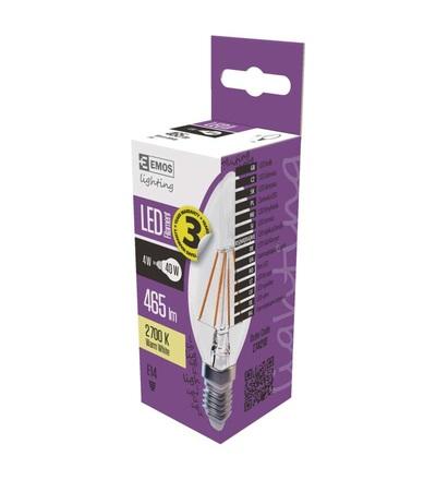 LED žárovka Filament Candle 4W E14 teplá bílá Z74210