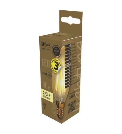 LED žárovka Vintage Candle 2W E14 teplá bílá+ Z74300
