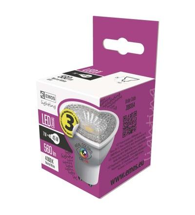 EMOS LED žárovka Classic MR16 7W GU10 neutrální bílá Ra96 ZQ8354