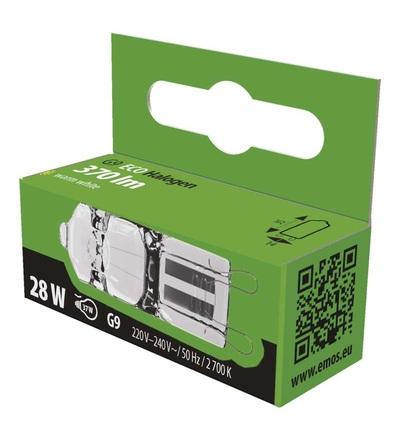 EMOS Halogenová žárovka JC 28W G9 teplá bílá, stmívatelná ZE0302
