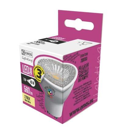 EMOS LED žárovka Classic MR16 7W GU10 teplá bílá Ra96 ZQ8353