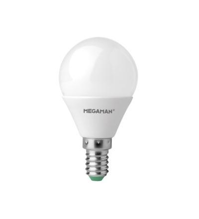 MEGAMAN LED kapková žárovka P45 5.5W E14 neutrální bílá 470lm LG2605.5/CW/E14