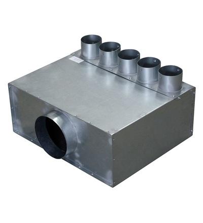 Vzduchové potrubí rozvaděč DN125/5x75 V-systém RK1401