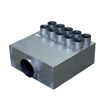 Vzduchové potrubí rozvaděč DN160/10x75 V-systém RK1402