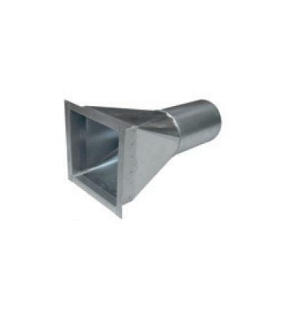 Stěnový kanál pro ventilační systém přechod DN160/200x200 V-systém RK1509