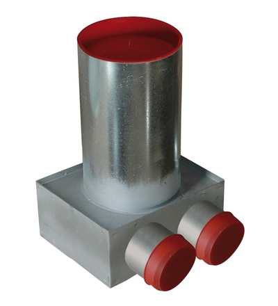 Napájecí / odvzdušňovací ventil stropní box  2x75/125 V-systém RK1505