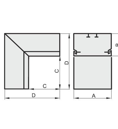 Vnitřní úhel pro EIP 13060, typ UI13060, POLYPROFIL