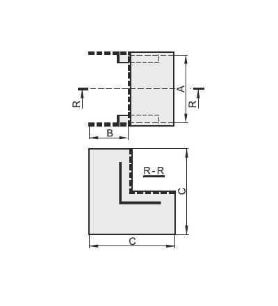 Vnitřní úhel pro EIP 18014, typ UI18014, POLYPROFIL