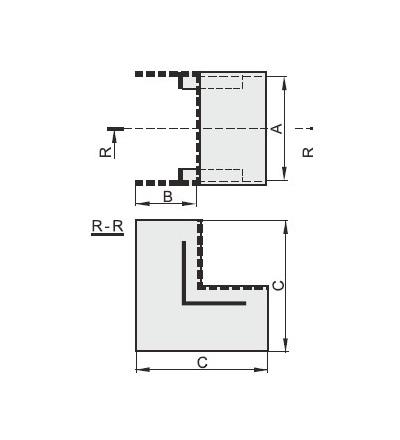 Vnitřní úhel pro EIP 40040, typ UI40040, POLYPROFIL
