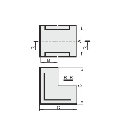 Vnější úhel pro EIP 25020, typ UO25020, POLYPROFIL