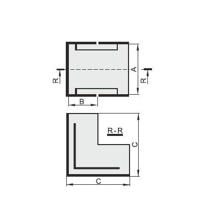 Vnější úhel pro EIP 30025, typ UO30025, POLYPROFIL