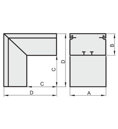Vnější úhel pro EIP 70060, typ UO70060, POLYPROFIL