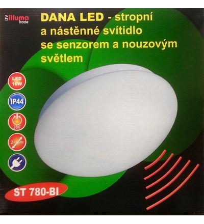 DANA LED Svítidlo 10W se senzorem a nouzovým světlem ST780-BI