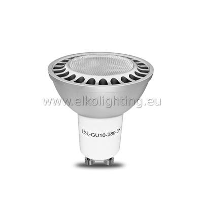 ELKO EP LED žárovka LSL-GU10-280-3K LED Spot, LED žárovka, teplá bílá,náhrada bodovky 35W 6196