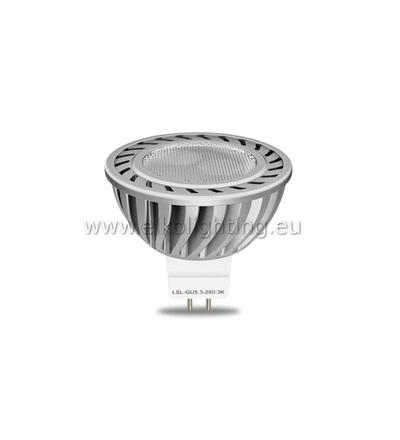 ELKO EP ELKO EP LED žárovka LSL-GU5.3-280-3K LED Spot 12V, LED žárovka, teplá bílá, náhrada bodovky 35W 6197