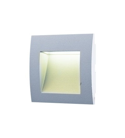 GREENLUX WALL 10 1,5W GRAY teplá bílá GXLL008