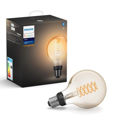 Philips Hue Bluetooth žárovka LED Filament E27 G93 7W 550lm 2200K 8718699688882