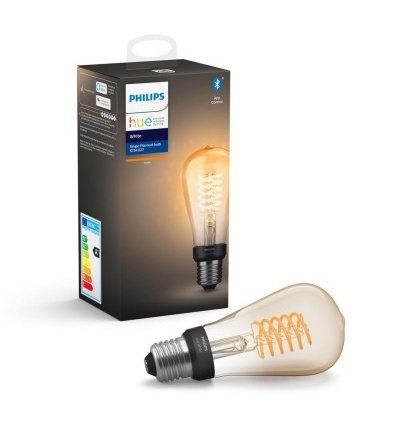 Philips Hue Bluetooth žárovka LED Filament E27 ST64 7W 550lm 2200K 8718699688868