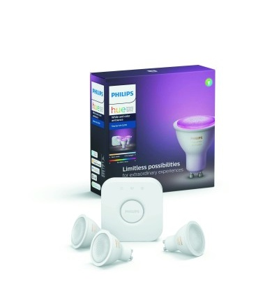 Philips Hue Bluetooth 3x LED žárovky GU10 5,7W 250lm 2200-2700K + bridge 8718699629274