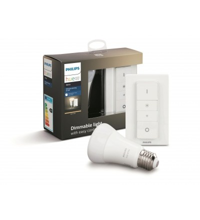 Philips Hue Bluetoothžárovka LED E27 9W 806lm 2700K + dimmer switch 8718696785331