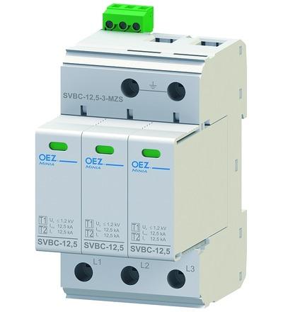 OEZ:40620 Kombinovaný svodič bleskových proudů a přepětí SVBC-12,5-3-MZS