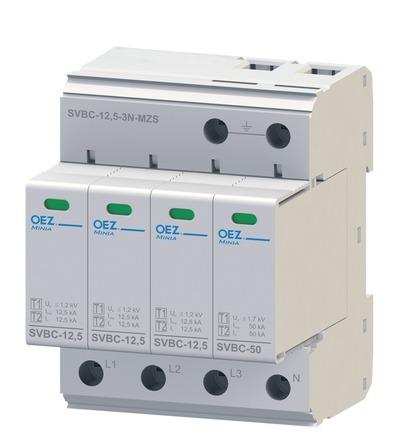OEZ:40621 Kombinovaný svodič bleskových proudů a přepětí SVBC-12,5-3N-MZ