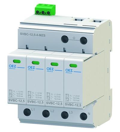 OEZ:40624 Kombinovaný svodič bleskových proudů a přepětí SVBC-12,5-4-MZS