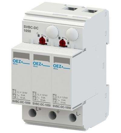 OEZ:42715 Kombinovaný svodič bleskových proudů a přepětí SVBC-DC-1050-3V-MZS
