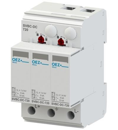 OEZ:42718 Kombinovaný svodič bleskových proudů a přepětí SVBC-DC-720-3V-MZS