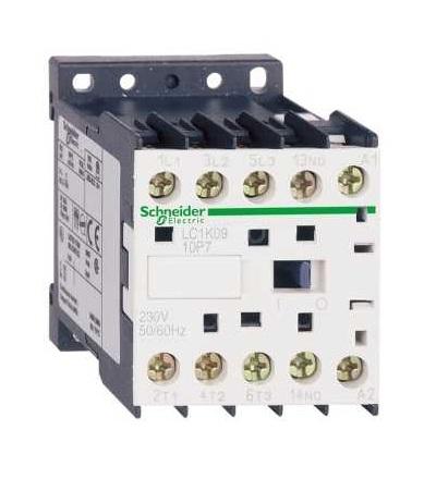 Schneider Electric LC1K1610V7 TeSys K stykač, 3p (3Z), AC-3, ? 440 V 16A, cívka 400V AC