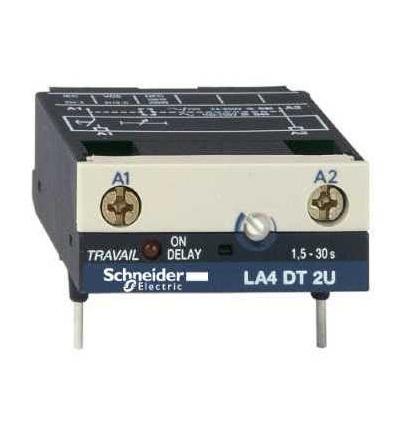 Schneider Electric LA4DT2U Elektronický časový modul, typ zpož. sepnutí, 1,5....30 s, 24....250 V DC/AC