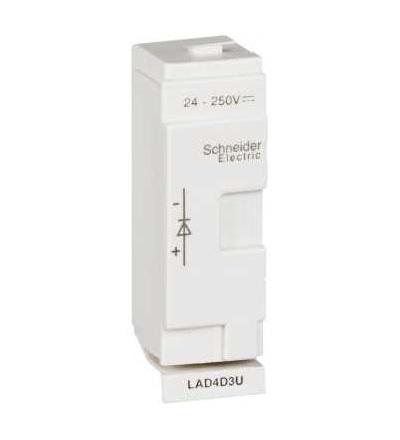 Schneider Electric LAD4D3U TeSys D, odrušovací člen, dioda, 24...250 V DC