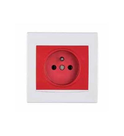 AYA2800421 Anya, zásuvka 2p+PE clonky, 16A polar/red, Schneider Electric
