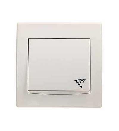 Schneider Electric AYA1800223 Anya, ovládač tlačítkový -10AX- orientační kontrolka, schody symbol, cream