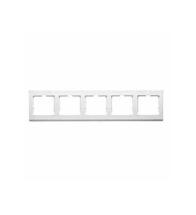 AYA5802521 Anya, horiz. pětinásobný rámeček, polar, Schneider Electric
