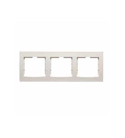 AYA5802323 Anya, horiz. trojnásobný rámeček, cream, Schneider Electric