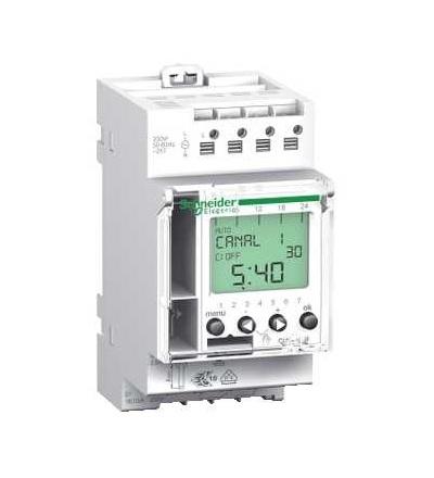 Schneider Electric CCT15850 Acti 9, IHP, 1V digitalní časový spínač, 24 hodin+7 dnů