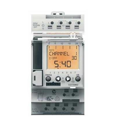 Schneider Electric CCT15853 Acti 9, IHP+, 2V digitalní časový spínač, 24 hodin+7 dnů