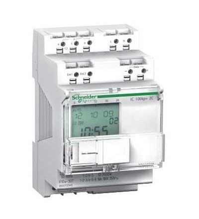 Schneider Electric CCT15493 Acti 9, IC100KP+, 2V prog. soumrakový spínač s čas. funkcí, 1...99000 lux