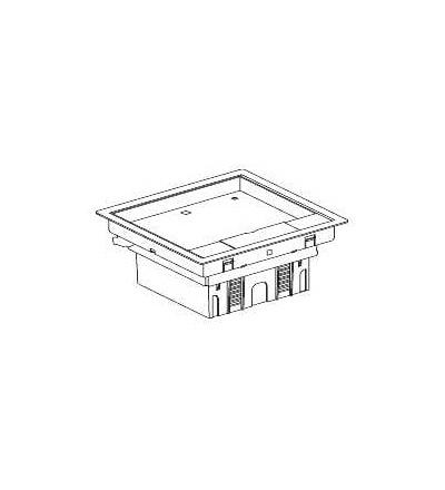 Schneider Electric ISM51524 Podlahová krabice kovová, 4 modulová, Unica