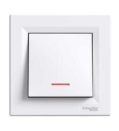 Schneider Electric EPH1600321 Asfora, ovl. tlač. orient.kon. ř.1/0So, bílá