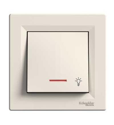 EPH1800123 Asfora, tlač. světlo or.kontr.,ř.1/0So, bezšroubový, krémová, Schneider Electric