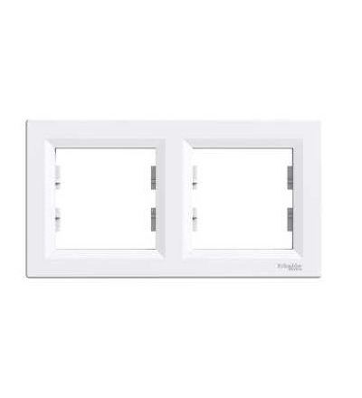 Schneider Electric EPH5800221 Asfora, rámeček dvojnásobný, bílá