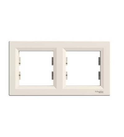 Schneider Electric EPH5800223 Asfora, rámeček dvojnásobný, krémová