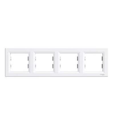 Schneider Electric EPH5800421 Asfora, rámeček čtyřnásobný, bílá