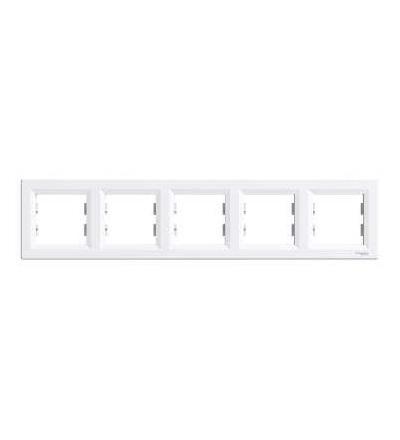EPH5800521 Asfora, rámeček pětinásobný, bílá, Schneider Electric